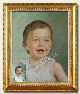 Портрет малыша холст масло