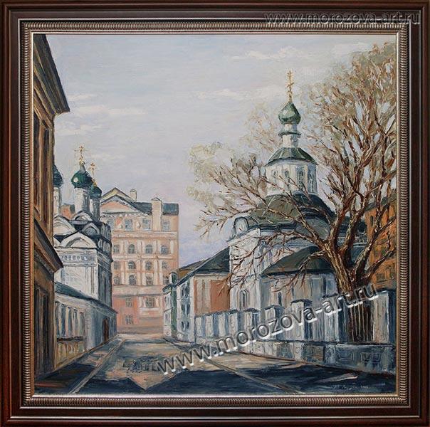 Купить или заказать живописное полотно Церковь Воскресения Христова в Кадашах, цены Договорные.