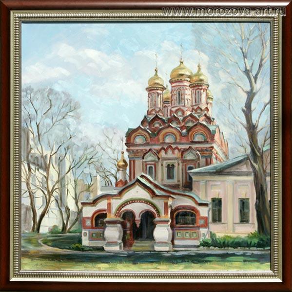 Купить или заказать живописное полотно Церковь Николая Чудотворца на Берсеневской набережной